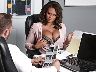Halle Hayes & Scott Nails in Working Late - BRAZZERS big ass big tits ebony